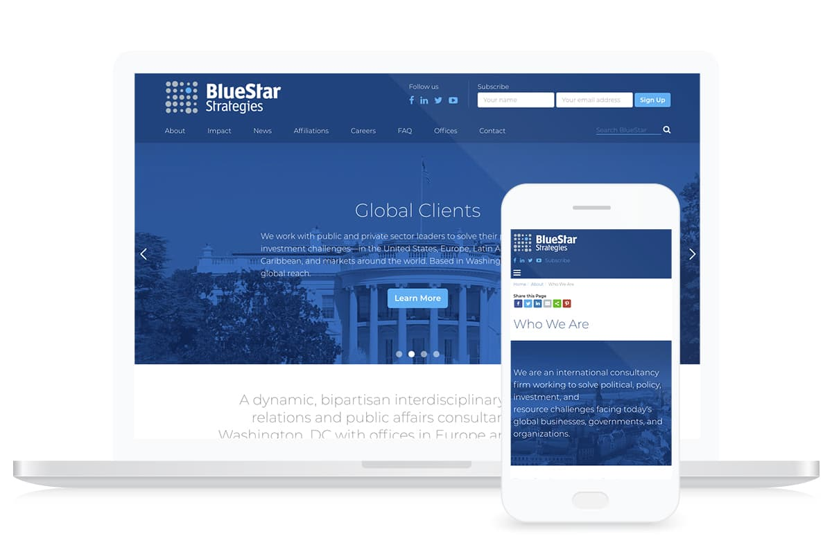 Bluestar Strategies Website Design