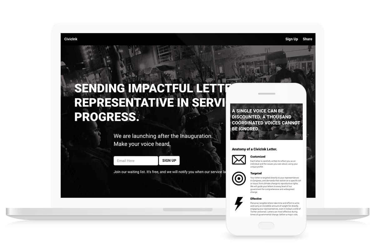 Civic Ink Website Design