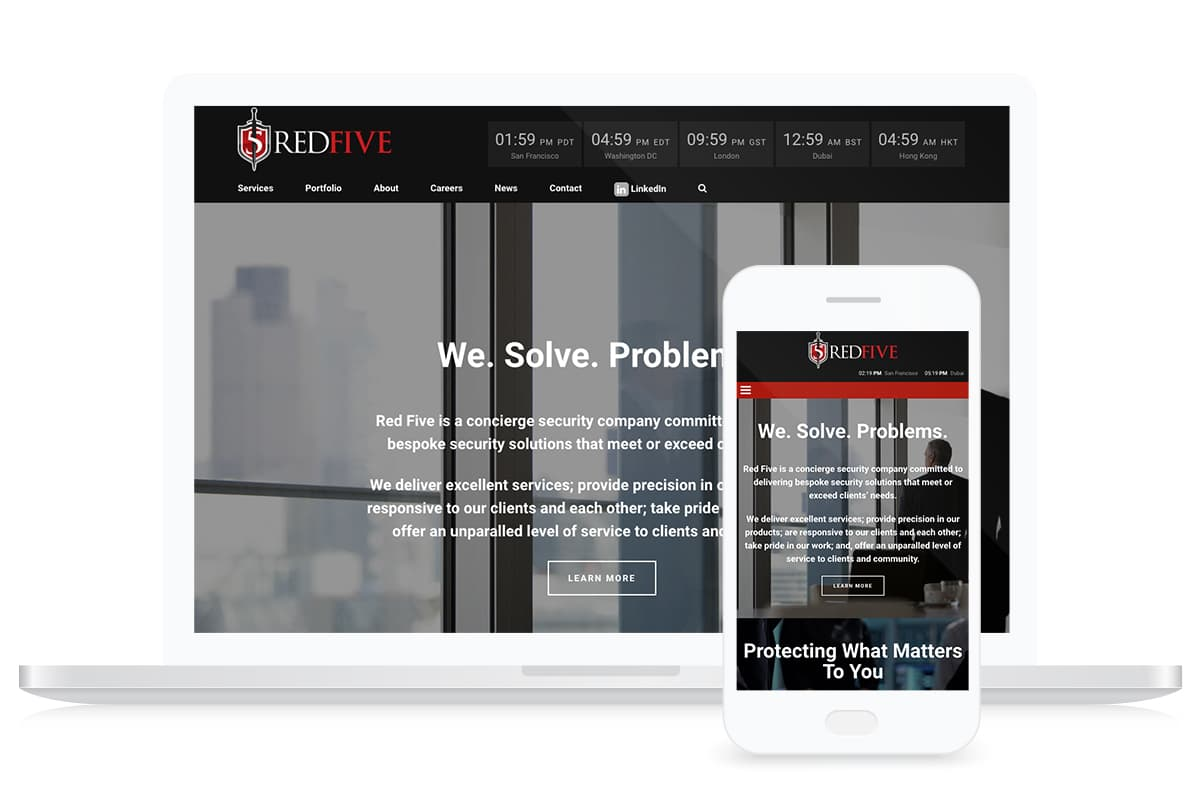 Red5 Security Website Design